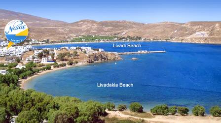 Serifos Map Of Serifos Greece Naias Hotel Rooms Accommodation In Livadi Of Serifos Island