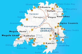 Map of Serifos