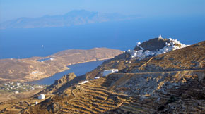 Aerial view of Serifos